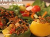 Vegan Stuffed Peppers with Buckwheat, Rice Veggies