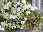 White Floral Arrangement with Beautiful Greenery
