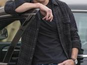 Justified Raylan's Black Flannel Shirt with Jeans