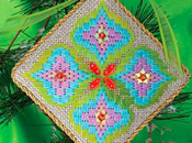 Water Flower, Latest Bargello Ornament Needlepoint Now!