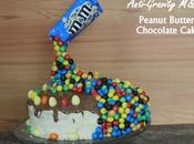 Anti-Gravity M&Ms Peanut Butter Chocolate Cake