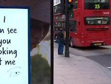 Interactive Advert Shelter Shown Only Women