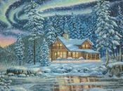 Winter Cabin Cross Stitch