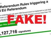 Most Signatures Petition Re-do Brexit Referendum Fake