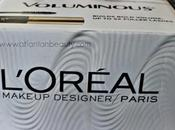 Look Inside Influenster L'Oreal Voluminous with Reviews Swatches