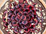 Chocolate Cherry Tart with Toasted Almond Crust (Gluten Free, Paleo Vegan)