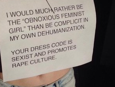 Open Letter Principals Enforcing Sexist Dress Codes