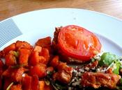 Southwest Peanut Sweet Potatoes, Quinoa Ceasar Salad Tomato Tarts