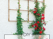 Build Modern Grid Trellis from Garden Stakes