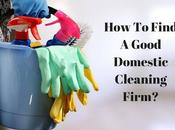 Find Good Domestic Cleaning Firm?