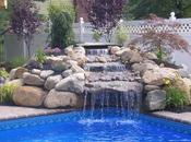 Pool With Waterfall Design