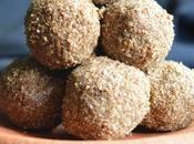 Sesame Beaten Rice Balls Ellu Aval Laddu with Coconut Sugar Diabetic Friendly Recipe Index Sweet