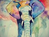 Jumbo- Elephant Water Color Canvas