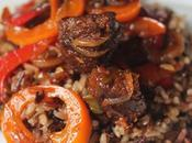 Easy Veggies, Rice, Gardien Beefless Tips Stir