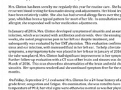 Hillary Clinton's PARTIAL Health Record Released, Days After 9/11 Collapse