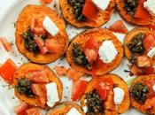 Healthy Appetizer Greek Roasted Sweet Potato, Olive, Tomato, Feta Cheese