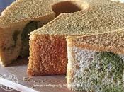 Kinako Matcha Chiffon Cake