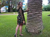 Cannes Chic Embroidered Floral Dress, Khaki Sandals Rosy Shades Outfit