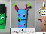 Halloween Crafts with Paper Rolls