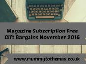Magazine Subscription Free Gift Bargains November 2016