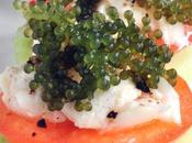 Crab Meat with Green Caviar Appetizer
