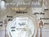Place Setting Semi Formal Table