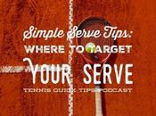 Simple Serve Tips: Where Target Your Tennis Quick Tips Podcast
