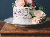 Rose Water Chocolate Chunk Layer Cake with Frosting Macarons