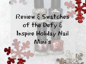 Defy Inspire Holiday Nail Polish Mini's Review Swatches