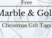 Free Marble Gold Christmas Gift Tags