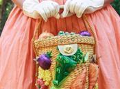 Vintage 1950's Shirtwaist Dress, Novelty Vegetable Purse, Bravery Park