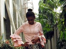Touch Pink Blush Bell Sleeves