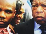 Kirk Franklin Standing With Rep. John Lewis
