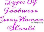 Types Footwear Every Woman Should