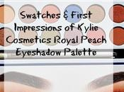 Kylie Cosmetics Royal Peach Palette Swatches Comparison Faced Sweet