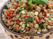 Simple Fast Lentil Feta Salad