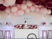 Burgundy Pink with Hints Gold This Stunning Balloon Themed Party Styled Coco Melbourne