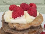 Oreo Pancakes with Raspberries Creme Fraiche
