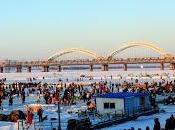 Harbin's Frozen Riverside...