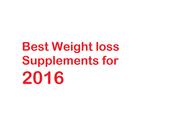 Best Weight Loss Supplements 2016