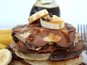 Chocolate Banana Swirled Pancakes