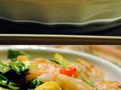 Slender Greek Shrimp, Squash Spinach Sauté