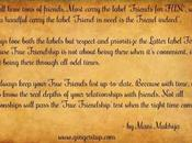 Friendship Quote Always Keep Your 'True Friends' List Date!