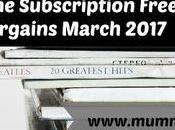 Magazine Subscription Free Gift Bargains March 2017