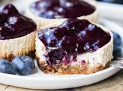 Vanilla Bean Greek Yogurt Cheesecakes with Blueberry Compote (Gluten Free Refined Sugar Free)