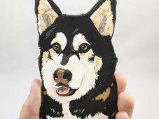 Custom Paper Portraits Megan Mead Pups