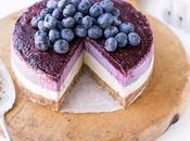 No-Bake Layered Blueberry Cheesecake (Gluten Free, Paleo Vegan)