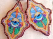 Copper with Resin Cosmic Drawing Earrings Your Omnisc...