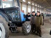 Choe Ryong Visits Kumsong Tractor Factory