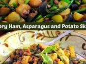 Meal Savory Ham, Asparagus Potato Skillet